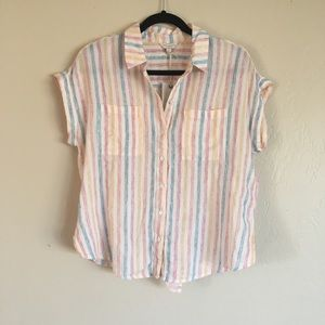 Lucky Brand Multi Color Button Up Shirt sz Small